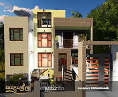 Kedella Homes Colombo designed house on a flat plot of land located in a residential area