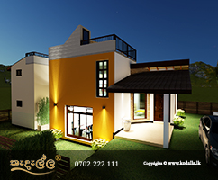 Best Kandy home architect designed Kedella Homes with beautiful roof terrace/flat roof and architectural elements