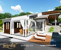 Modern Kedella Homes designs in Kurunegala Sri Lanka with an elegant luxurious private outdoor swimming pool