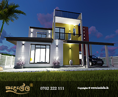 Home design provides one vaulted master bed room with attached personal bath room and dressing room