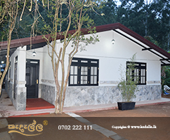Simple Single Story Completed House in Kandy, Sri Lanka designed for limited budget or narrow block size