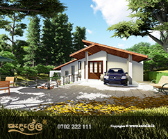 Chartered architects in Kandy Sri Lanka designed two level house with gardens yards lawns stairs landscaping