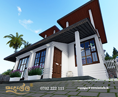 Best architectural designers in Kandy designed beautiful colonial style house that Combines classical Kandyan period architecture
