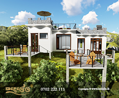 Top chartered architects in Kandy Sri Lanka designed beautiful villa plans with front side large balconies