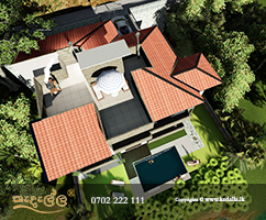 Kandy Architect designed building with huge terrace in thannekumbura area.Architect contact number 0702 222 111