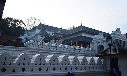 "The Temple of Tooth at kandy is the final location of the sacred tooth of the lord Buddha which was brought to srilanka during the reign of king ""keerthi sri Megawarna"" by prince ""Dantha"" and Princess ""Hemamala"" from the kindom of kalingu India."