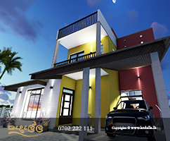 Modern contemporary architecture building plan designed by team of pioneer architects in Kandy Sri Lanka