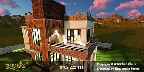 Spectacular low cost house plans Sri Lanka with unique shapes and simple sustainable green calm environments