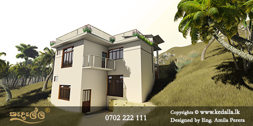 Talented architects and best home designers in Kandy done mountain residence on beautiful steep ridge
